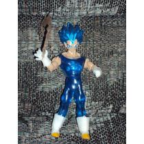 Figura Dragon Ball Z Vegeta Super Sayayin Dios Saya Con Luz