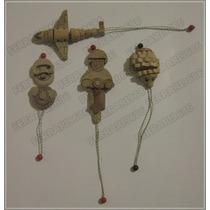 Kinder Sorpresa * 4 Figuras Madera Armada En Partes Movibles