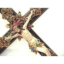 Cruz Con Cristo, Cuentas Y Cristales