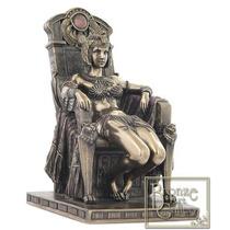 Escultura Egipcia De Cleopatra Sentada En Trono