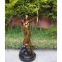 Escultura Diana Cazadora , Preciosa, Arte En Bronce Op4