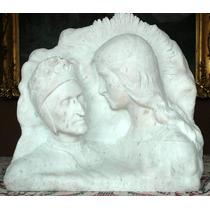 Dante Alighieri Y Beatriz Portinari Talla En Marmol Italiano