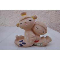 Figura Oriental Niños Ceramica Japon Asia Decoracion Hogar