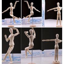 Maniqui Madera Figura Humana Dibujo Diseño Articulado 30 Cms