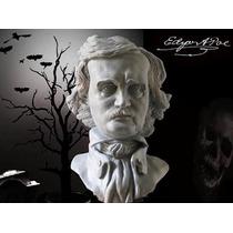 Edgar Allan Poe, Escultura De Resina, 17 Cm De Alto.