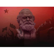 Karl Marx Escultura En Resina. 17 Cm De Alto.