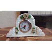 Reloj Figura De Porcelana Antigua Española