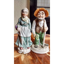Viejitos Campesinos Figuras De Porcelana Antigua