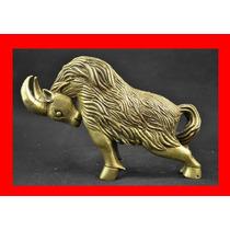 Estatua De Cobre Cabra Enojada Tibet Feng Shui