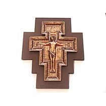 Crucifijo De San Damian Con Cristales