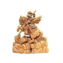 San Jorge Y El Dragón En Miniatura (madera)
