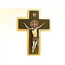 Cruz Con Cristo Y Medalla De San Benito