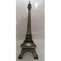 Torre Eiffel Metal !!!! 25 Cm Grabado Paris Caja De Regalo
