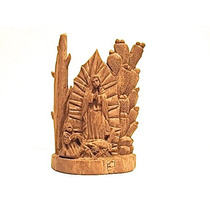 Vírgen De Guadalupe Con San Diego, Miniatura/madera