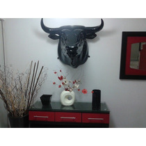 Cabeza De Toro En Fibra De Vidrio Decoracion Negocio Casa Of