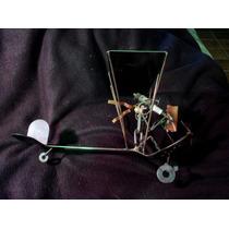 Figura Decorativa De Aeroplano En Metal 1