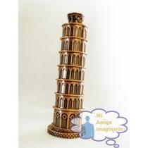 Torre De Pisa Italia Roma Figura Metal 18 Cm