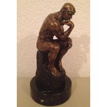El Pensador, Escultura De Bronce Con Base De Mármol, Op4
