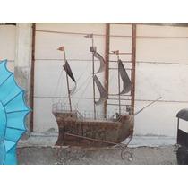 Asombrosa Escultura De Barco Pirata Gigante Pieza Unica