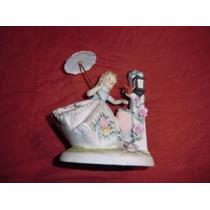 Figurin De Niña En Porcelana Con Sello Lefton China