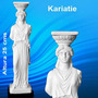 Cariatide Griega Acrópolis Atenas Figura Escultura Marmol