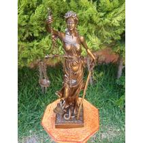 Escultura De Bronce Diosa De La Justicia Única! Op4