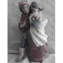 Escultura Porcelana Española Lladro Niños Al Viento Mate