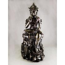 Escultura Kuan Yin Sobre Piedra Figura Diosa Del Amor Adorno
