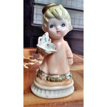 Angel Con Tetera Figuras De Porcelana Española.