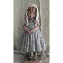 Escultura Porcelana Española Lladro Niña Regañada Excelente