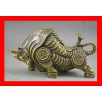 Estatua De Cobre Toro Del Tibet Feng Shui