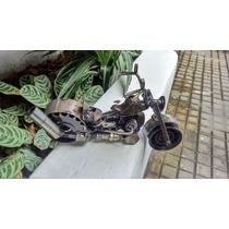 Escultura De Metal, Motocicleta Hecho De Piezas Recicladas