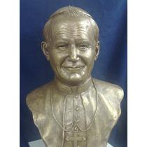Busto En Bronce De Beato Juan Pablo Ii, Papa, Santo.