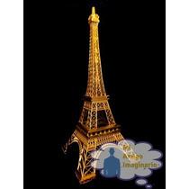 61 Cm Torre Eiffel Paris Francia Metal Escala Dorada Xv Años