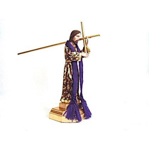 Cristo Del Rebozo De Madera Con Hoja De Oro