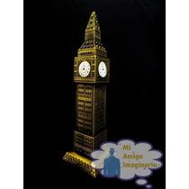 Torre Reloj Big Ben Londres Inglaterra Metal 18 Cm Regalo