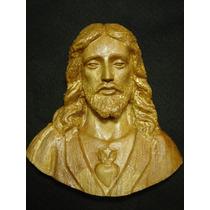 Sagrado Corazón De Jesús Tallado En Madera De Melina Maa