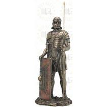 Escultura De Soldado Romano De 36 Cm En Acabado Bronce