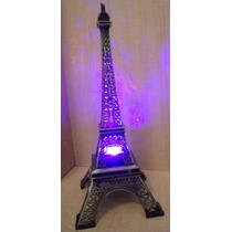 Torre Eiffel Metal 32 Cm Grabado Paris Caja Regalo Con Luz