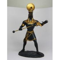 Egipcio Sun Solar Deidad Ar 11 Estatua Estatuilla Re El Sol