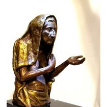 Escultura En Bronce De Modelo Femenina Artístico Clarivident