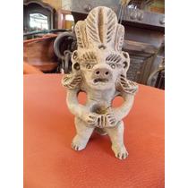 Replica De Escultura De Hombre Prehispanico Estilo Antiguo.