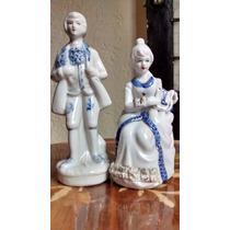 Conjunto De Escena Galante En Porcelana Antigua