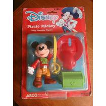 1980´s Figura Mickey Mouse Pirata Mattel Arcos Toy Nuevo