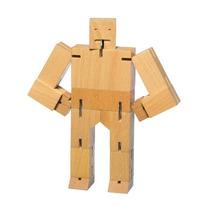 Juguete Decorativo De Madera Cubebot Pequeño