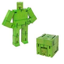 Juguete Decorativo De Madera Micro Verde Cubebot