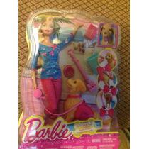 Muñeca Barbie Y Su Cachorro 100% Original Mattel
