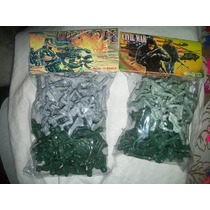 Gcg Figuras De Soldados Soldaditos Verde Gris 2 Bolsas Mmy