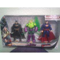 Liga De La Justicia Dc Comics Paquete De 3 Figuras Batman