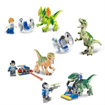 Jurassic World Figuras Para Armar 3 Set Diferentes